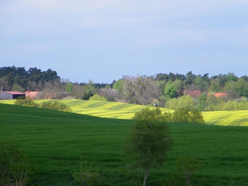 Der Blick vom Hof in die Landschaft