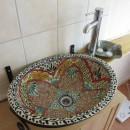 Fewo 2, 12 Mexikanisches handbemaltes Waschbecken