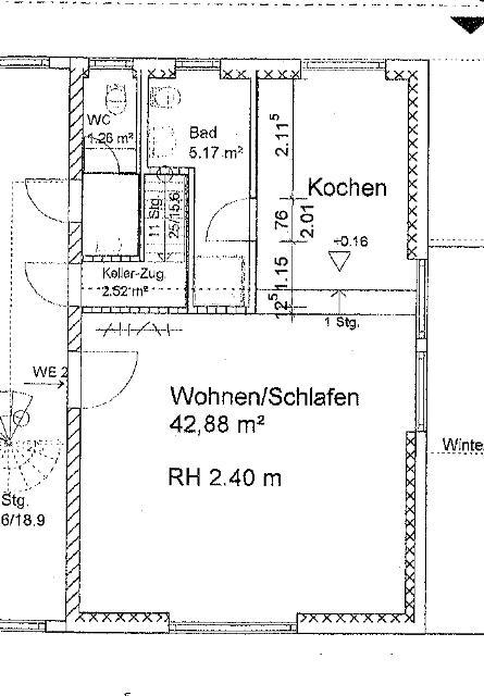 Fewo 4, Grundriss, Atriumhaus EG links