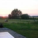 Sonnenuntergang an den Weidenterrassen des Refugiums